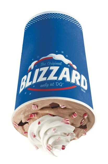 Dairy Queen hot cocoa peppermint blizzard