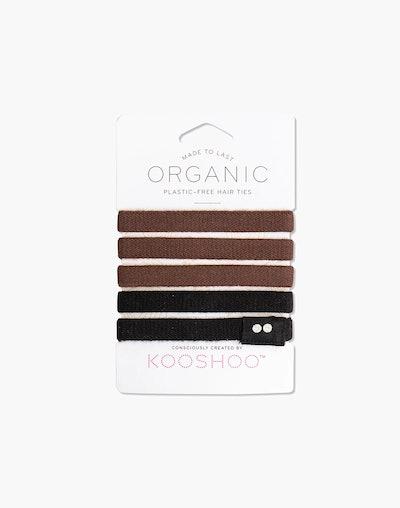 Five-Pack Organic Cotton Hair Ties