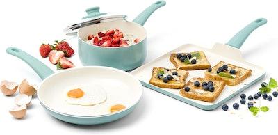 GreenLife Soft Grip Ceramic Nonstick Cookware Set