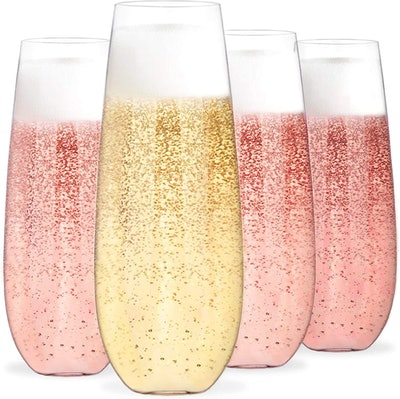 Bravario Unbreakable Champagne Flutes (4-Pack)