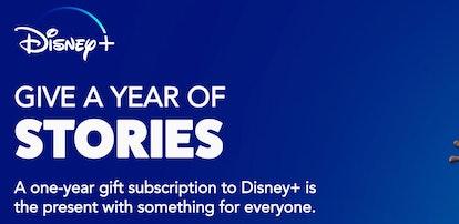 Disney+ One Year Subscription