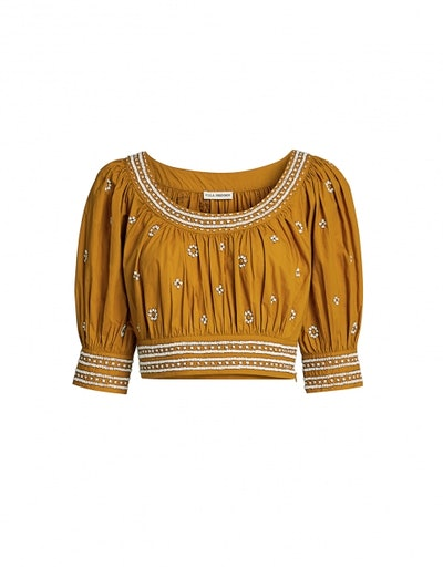 Zola Bead-embellished Cropped Top