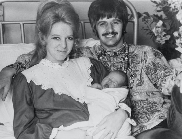 Ringo Starr and wife with baby