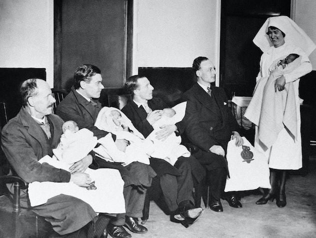1930s hospital baptism day