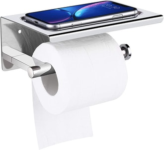 UgBaBa Toilet Paper Holder with Phone Shelf