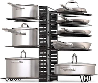 GeekDigg Adjustable Pot Rack Organizer