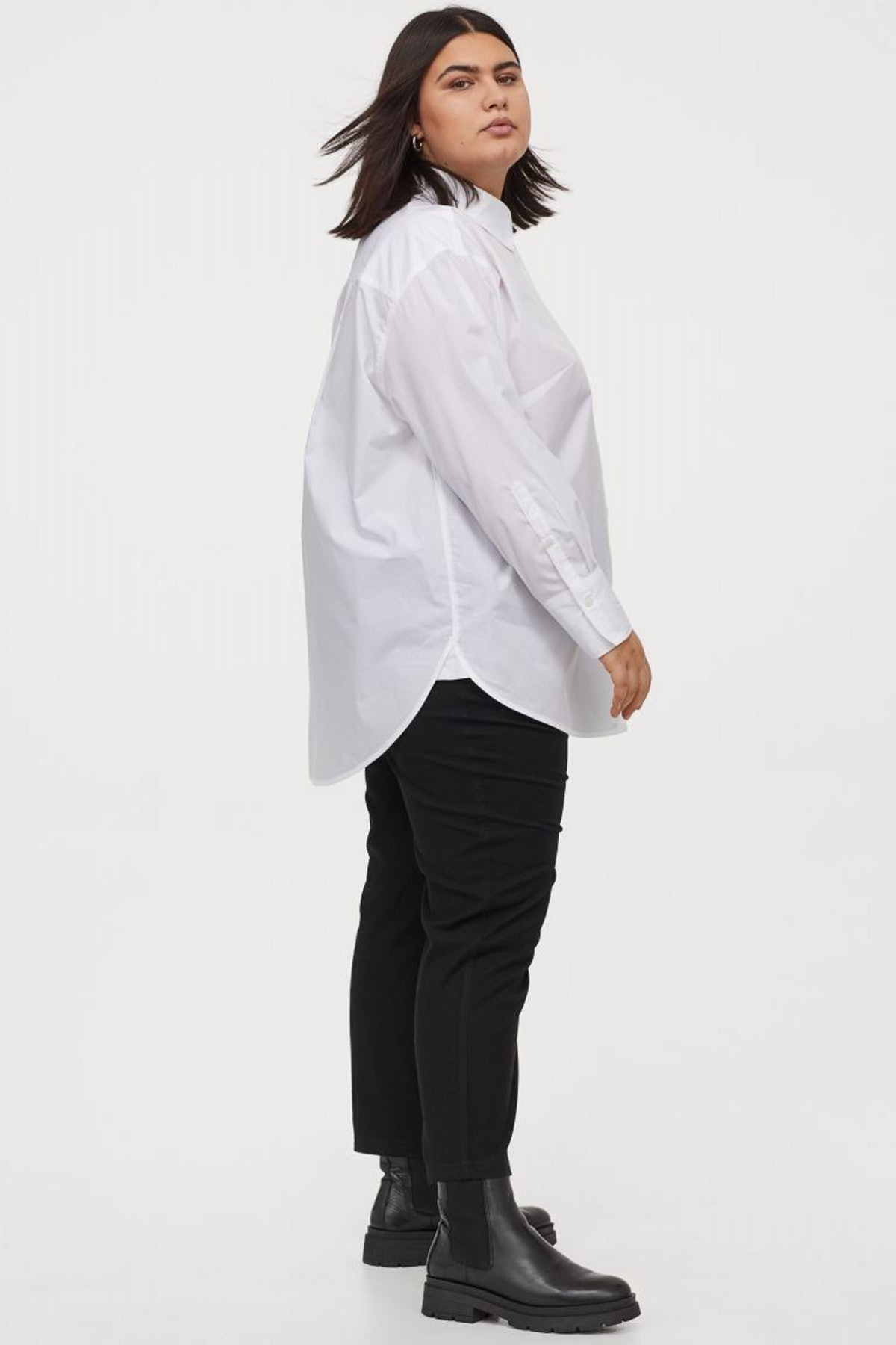 H&M+ Oversized Cotton Shirt