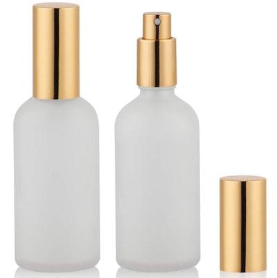Hydior Glass Perfume Atomizer, 2 Oz. (2-Pack)