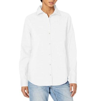 Amazon Essentials Long-Sleeve Button-Down Poplin Shirt