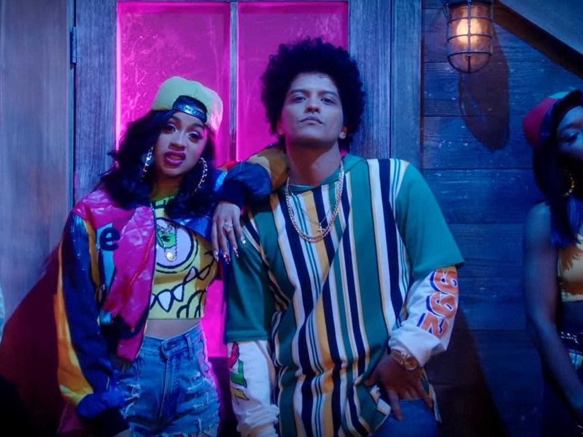 Cardi B and Bruno Mars appear in the Finnesse video.