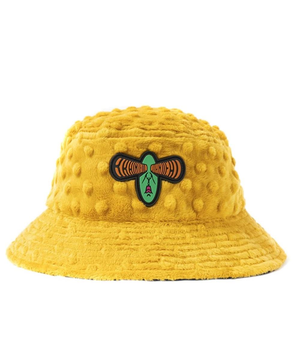 Embossed Fur Bucket Hat