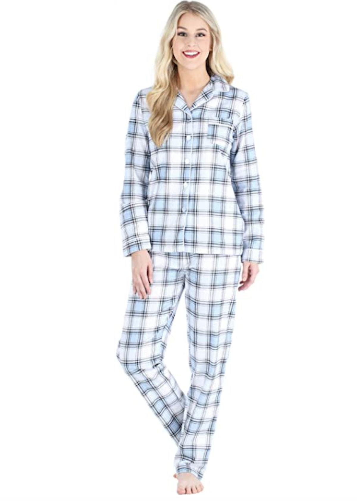 PajamaMania Flannel Long Sleeve Pajama Set