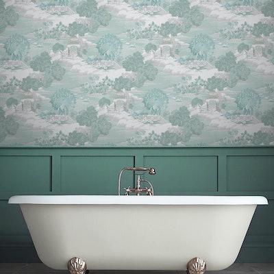 Edo Toile Mint Wallpaper