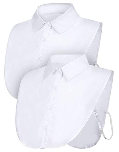 Tatuo Detachable Dickey Collar Half Shirts (2-Pack)