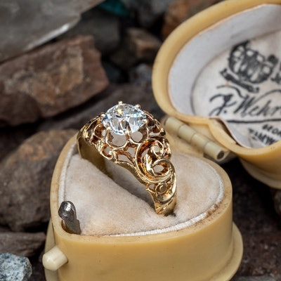 Victorian Old Mine Cut Diamond Yellow Gold