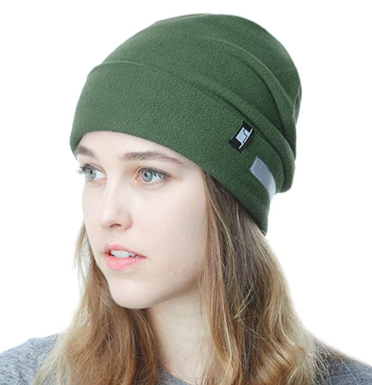The Hat Depot Fleece Reflective Beanie