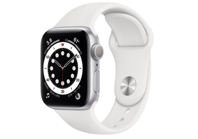 Apple Watch Series 6 (GPS) Silver Aluminum Case with Solo Loop