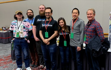 A photo of the Video Game History Foundation members.