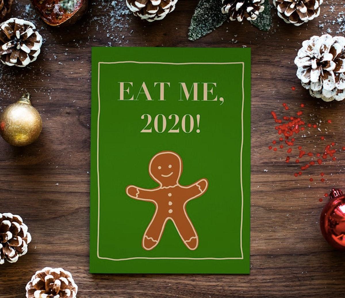 Printable Xmas Card - Eat Me, 2020