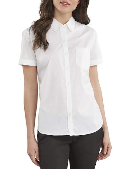 Dickies Stretch Poplin Button-Up Short-Sleeve Shirt
