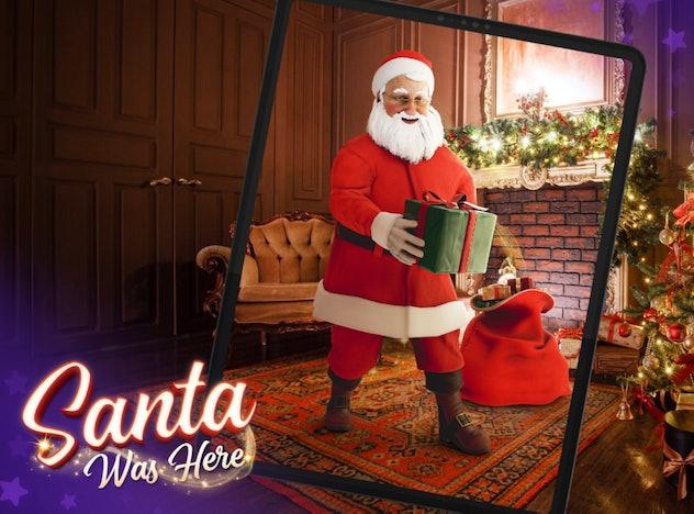 Santa was here app screenshot