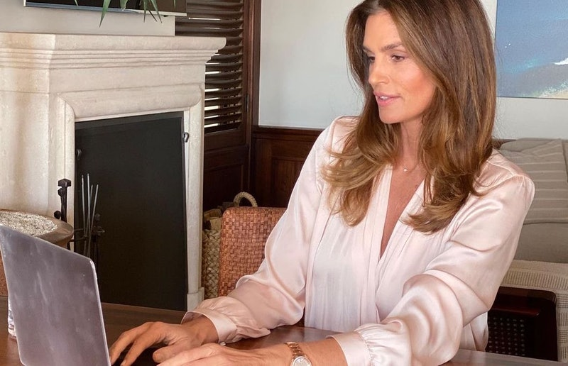 Celebrity home offices to inspire you include Cindy Crawford's