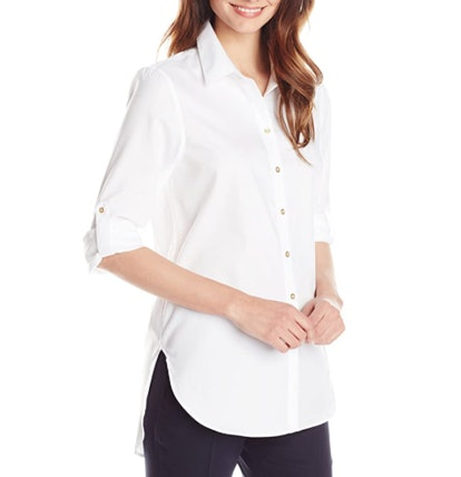 Calvin Klein Roll-Sleeve Tunic Shirt