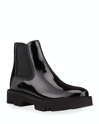 Haylie Patent Leather Ankle Boots