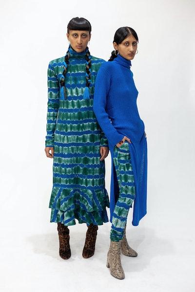 Peacock Turtleneck Dress