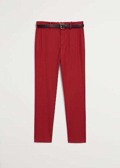 Belt suit pants