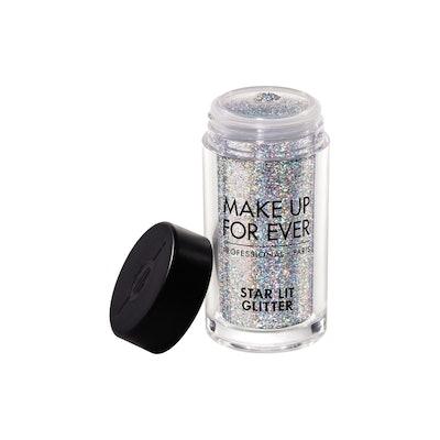 Starlit Glitter in Holographic Silver