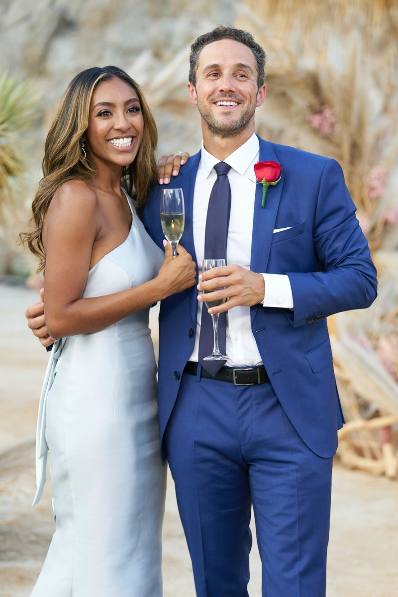 Tayshia and Zac get engaged in 'The Bachelorette,' via ABC press site.