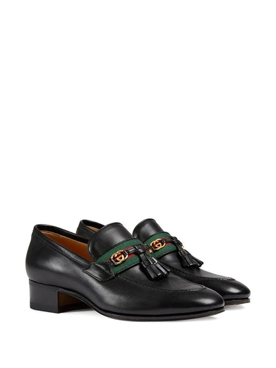 Web detailed GG motif loafers