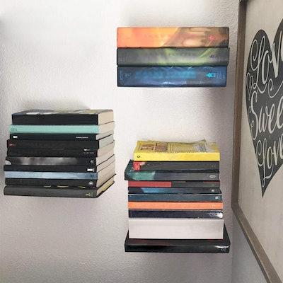 STORAGE MANIAC White Invisible Floating Bookshelves