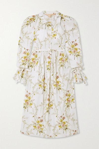 Brock Collection Floral-Print Cotton-Blend Dress