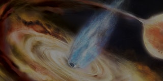 black hole jets artist's impression