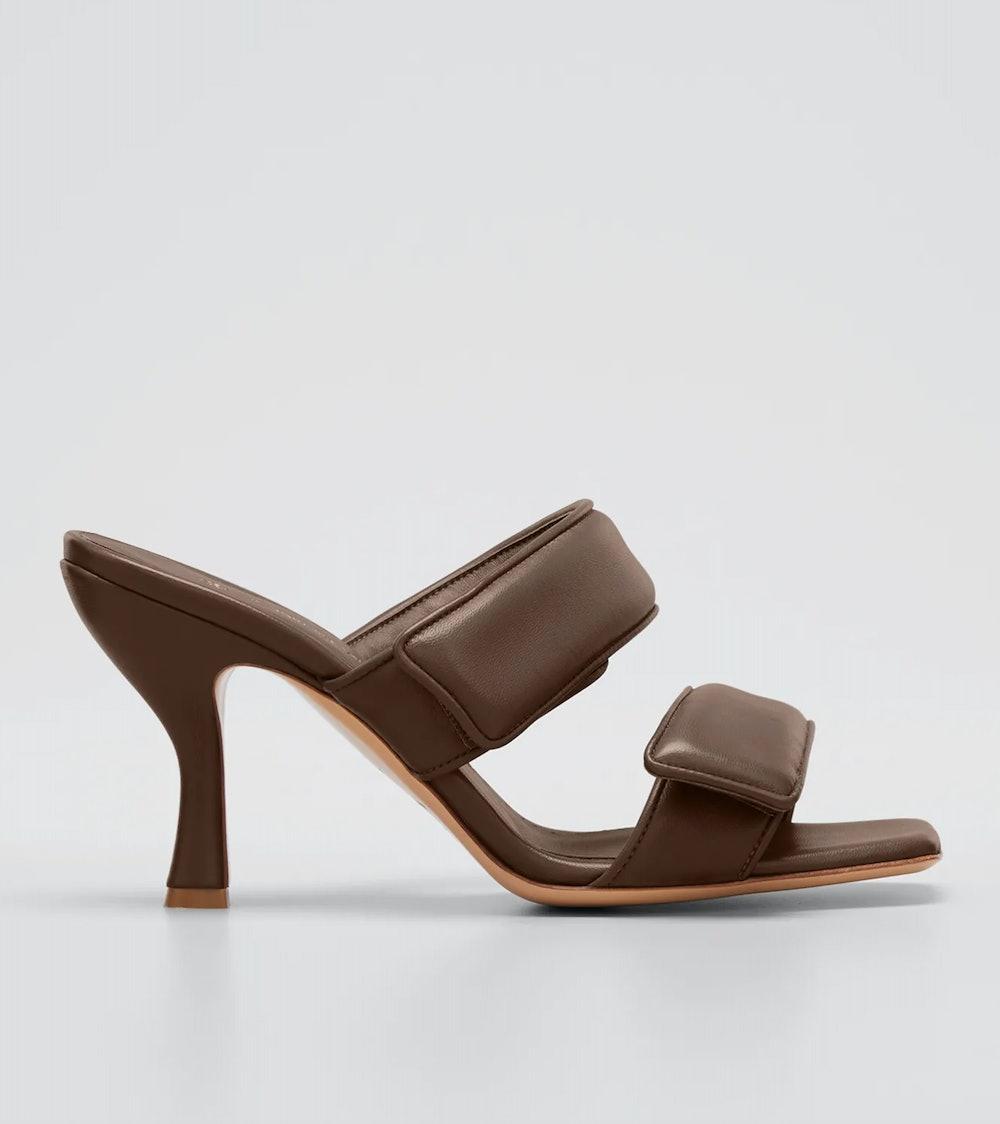 Perni Two-Band Puffy Slide Sandals