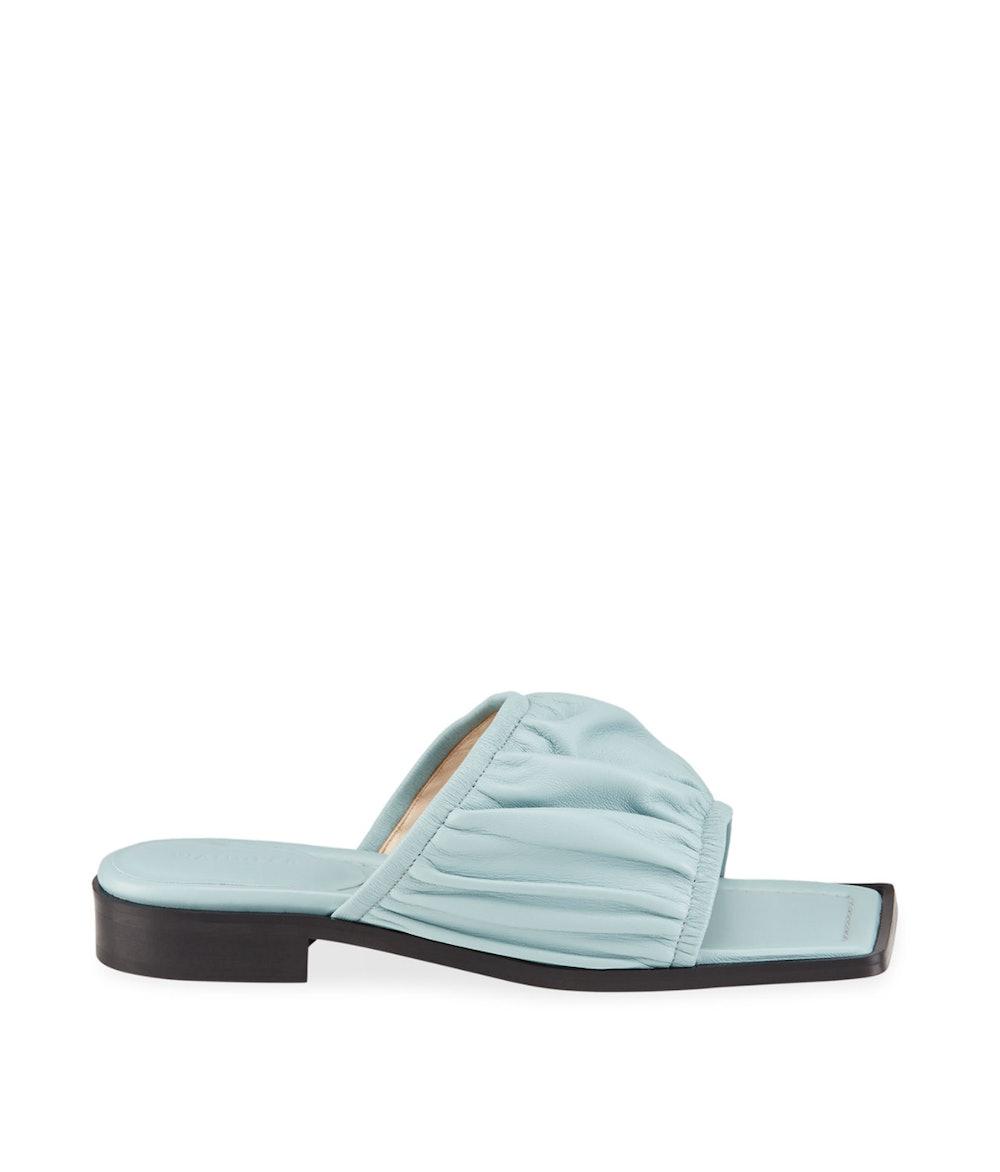 Mila 25mm Puffy Lambskin Flat Sandals