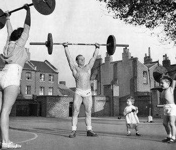 a weight lifting family