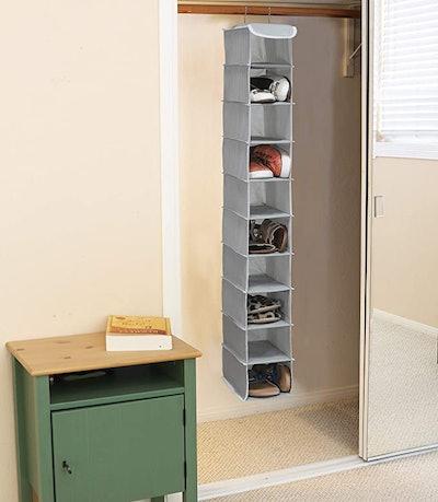 Simple Houseware 10 Shelves Hanging Shoes Organizer