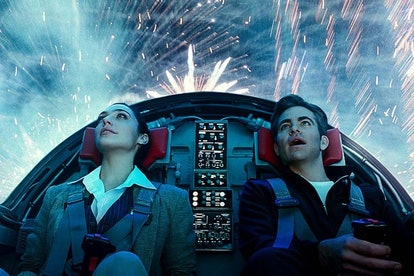 Steve and Diana in the invisible jet.