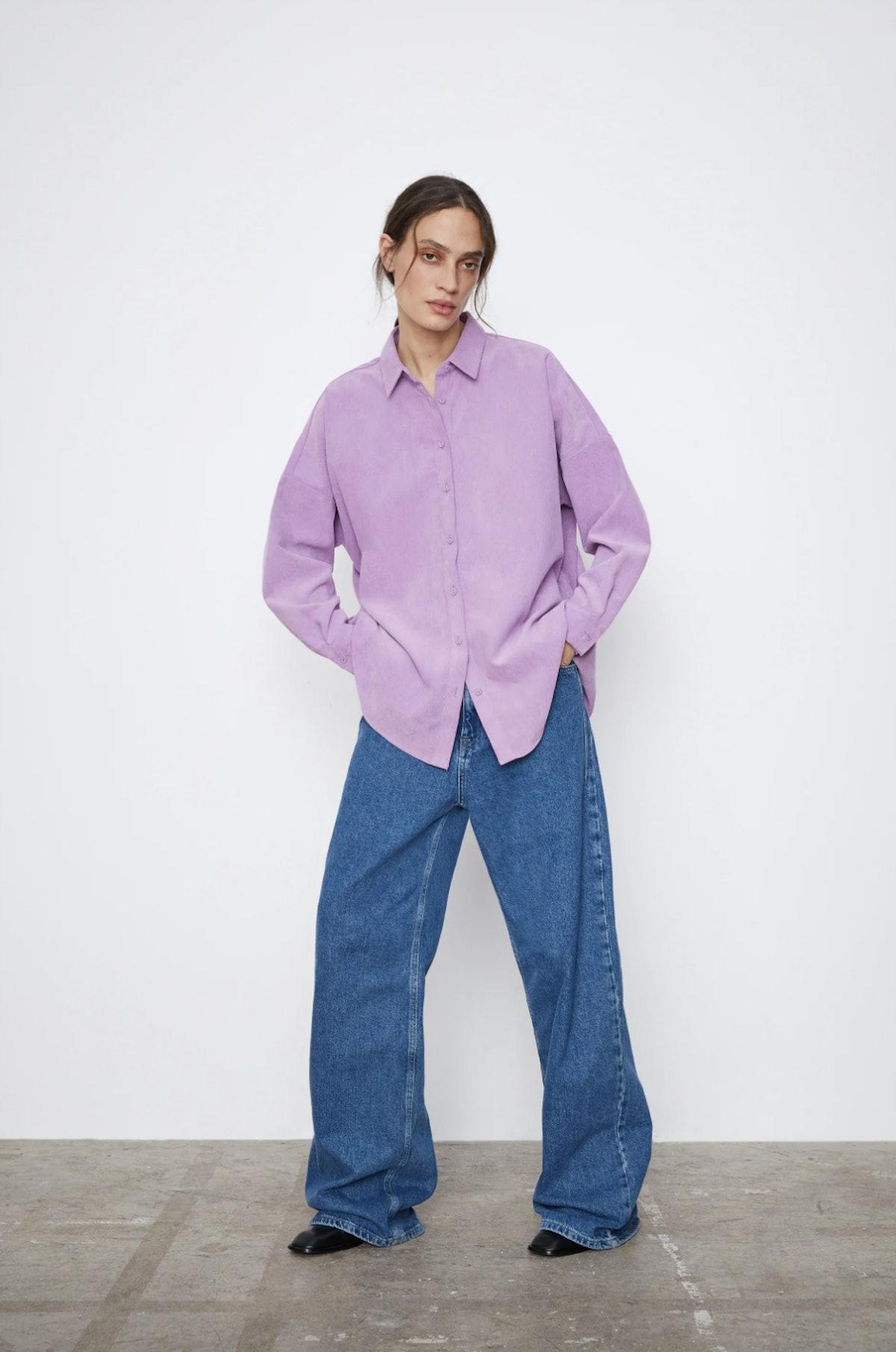 Oversized Corduroy Shirt