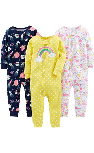 Simple Joys by Carter's Footless Cotton Pajamas (3-Pack)
