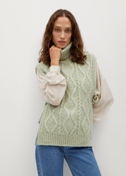 Mango Turtleneck Knitted Vest