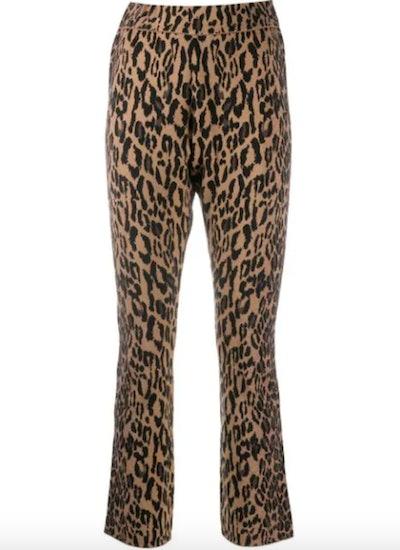 Slim Leopard Trousers