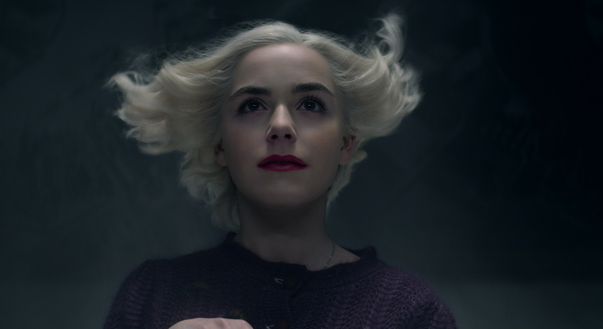 Kiernan Shipka in 'Chilling Adventures of Sabrina,' via the Netflix press site.