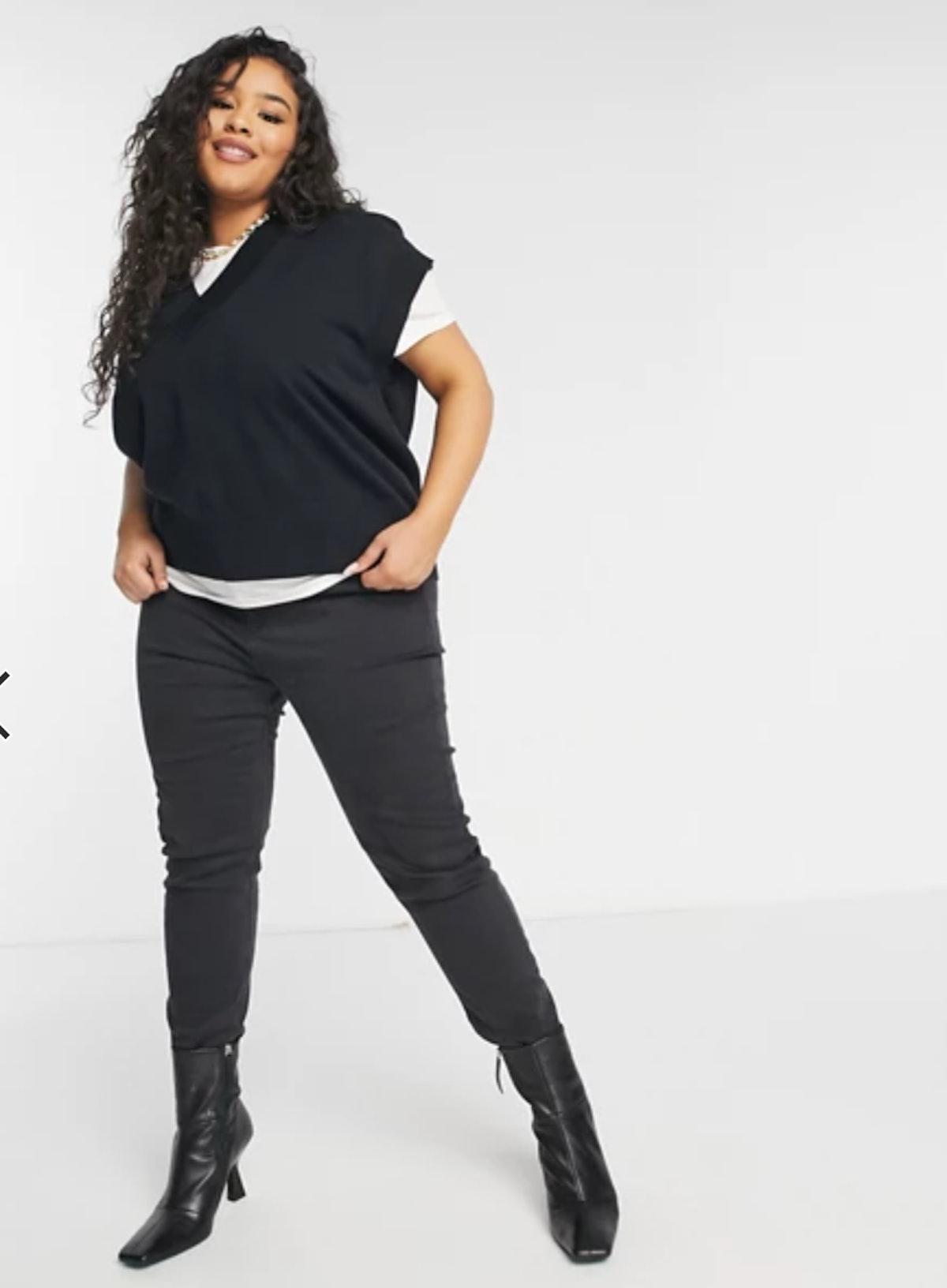 Native Youth Plus Oversized Sweater Vest