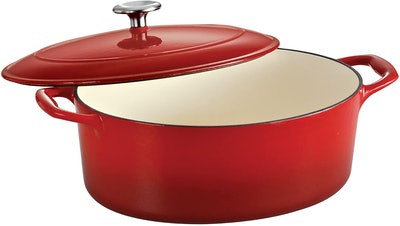 Tramontina Enameled Cast Iron Covered Oval Dutch Oven