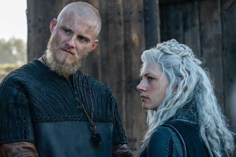 Bjorn (Alexander Ludwig) and Lagertha (Katheryn Winnick) in Vikings, via HISTORY press site.