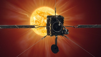 solar orbiter in front of sun